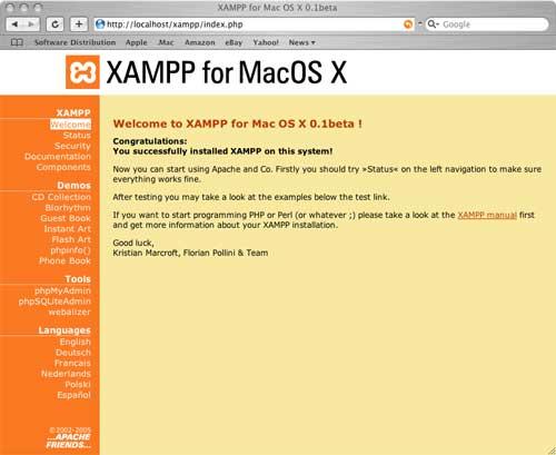 XAMPP(Mac OS X 版)官网下载