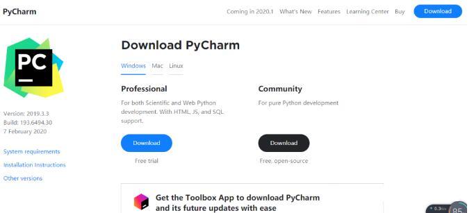 PyCharm下载_pycharm社区版2019安装教程
