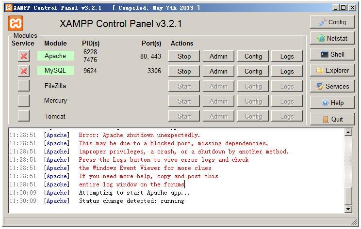 xampp启动不了apache_解除80端口占用