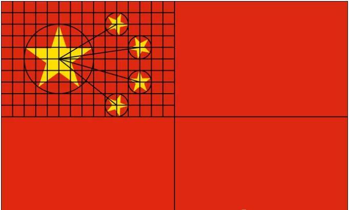 Python实战项目_Python实现五星红旗的绘制