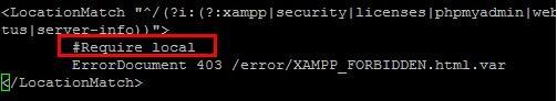 xampp设置外网访问